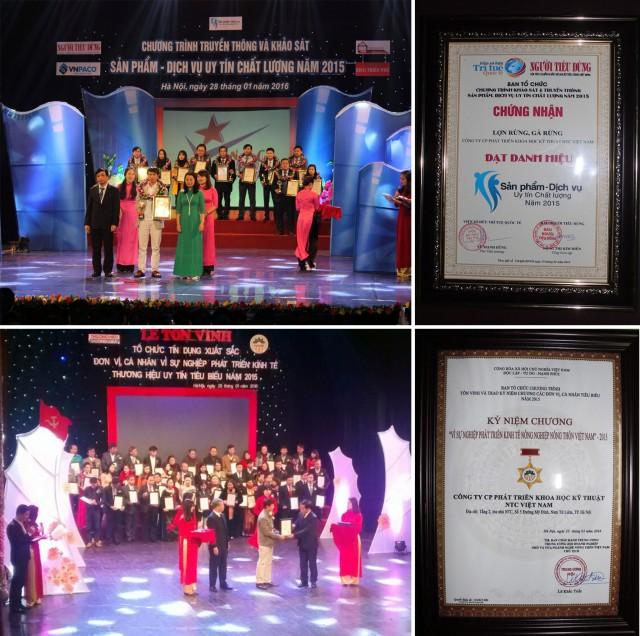 Giải thưởng vinh danh trang trại lợn rừng NTC