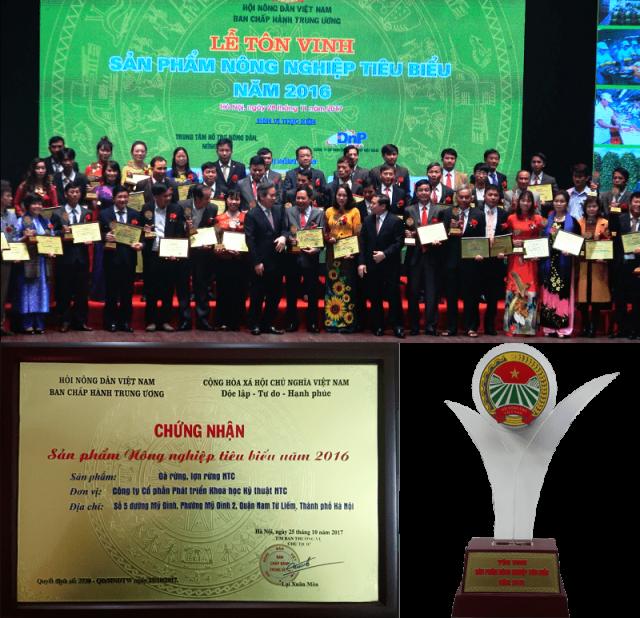 chứng nhận sản phẩm nông nghiệp tiêu biểu 2016